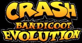 crash bandicoot evolution logo